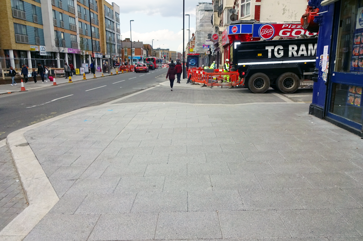 The TG RAM Ltd team working on the public realm improvement scheme on London Road, Croydon