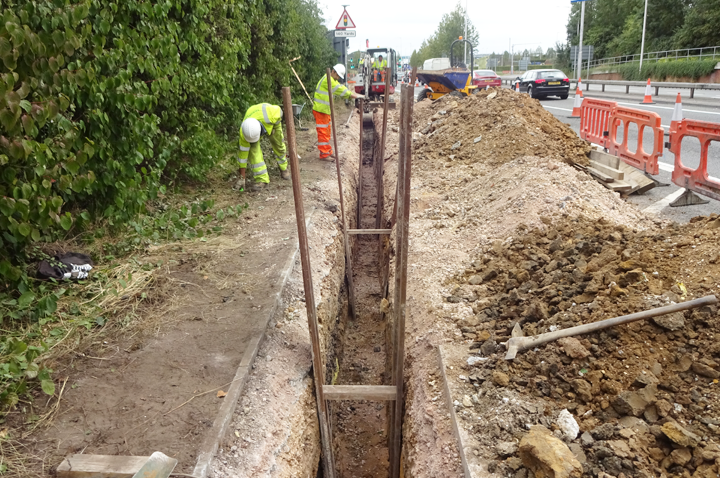 a33 road widening project in conjuntion with Reading Borough Council