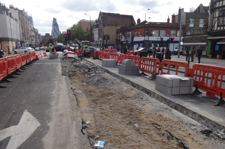 A TG RAM Ltd Footway resurfacing project in East London