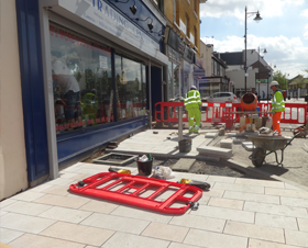 East London footway resurfacing project photo 1